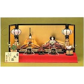 極上本頭 京葵・華の慶祝(入目) 吉兆雛  ひな人形 平飾り 親王飾り 雛人形