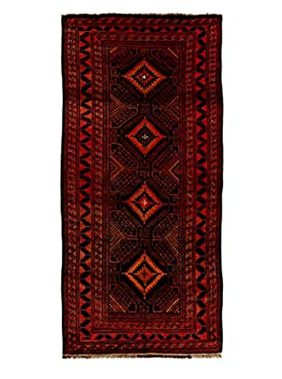 Solo Rugs Tribal Collection Oriental Rug, Rust, 4' 4
