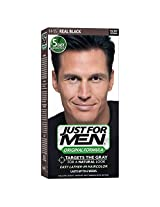 Just for Men Shampoo-In Hair Color Real Black 55 1 application (Pack of 3)