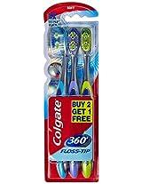 Colgate Toothbrush-360 Degree Flosstip - Buy 2 Get 1 Free (Medium-Saver)