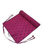 Shalinindia Yogamat For Women And Girls Cotton Printed Reversible Cushioned,YMT02-7021,Maroon,70X30 Inch
