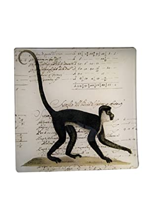 Twigs and Moss African Series Monkey Glass Tray