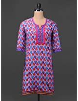 Multicolored Printed Cotton Kurta