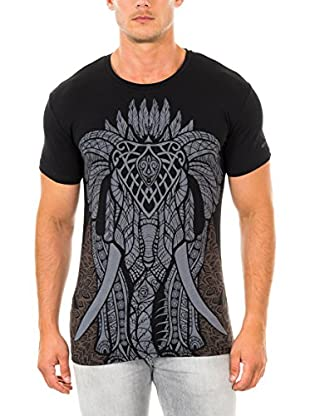 883 Police T-Shirt Manica Corta Gothic Elephant
