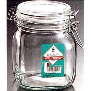 イタリアーナ 角型ガラス保存ビン