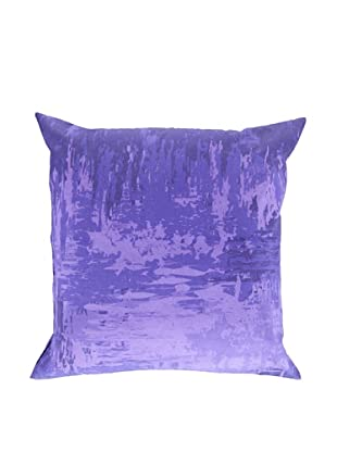 Surya Watercolor-Inspired Throw Pillow (Ultra Violet)