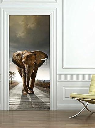 Ambiance Live Wandtattoo Door 204x83 cm - Elephant mehrfarbig
