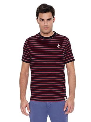 Pedro del Hierro Camiseta Rayas Marinero (Rojo)