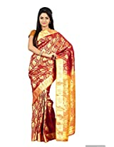 Mimosa Kanchipuram Art Silk Saree Maroon Colour(3121-2067-K-MAROON)