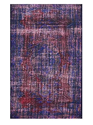 nuLOOM One-of-a-Kind Hand-Knotted Vintage Turkish Overdyed Rug, Purple, 5' 7