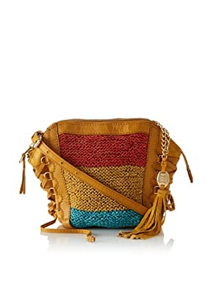 Olivia Harris Women's Columbier Laced Woven Shoulder Bag (Turquoise Multi)