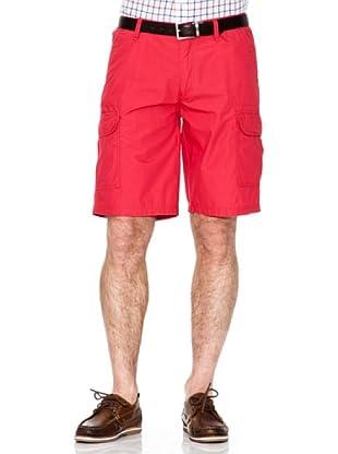 Cortefiel Bermuda Cargo (Rojo)