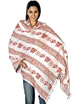 Exotic India Om Prayer Shawl - Multi-Coloured