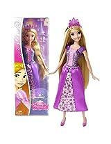 Mattel Year 2014 Disney Sparkling Princess Series 12 Inch Doll Rapunzel (Cff68) In Sparkling Purple Dress With Tiara