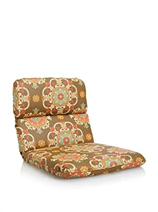 Waverly Sun-n-Shade Garden Crest Rounded Chair Cushion (Chocolate)