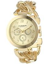 Akribos XXIV Women's AK564YG Multi-Function Mesh Link Bracelet Watch