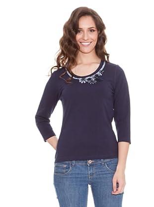 Tulchan Camiseta Ribbon rosette (azul marino)