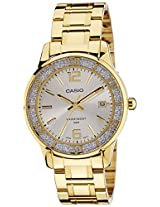 Casio Enticer Analog Silver Dial Women's Watch - LTP-1359G-7AVDF (A900)