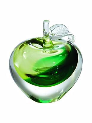 Global Views Glass Granny Smith Apple