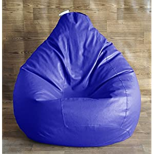 Style Homez Classic Bean Bag XXL Size Blue with Fillers