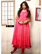 Party Wear Designer Peach Anarkali Suit