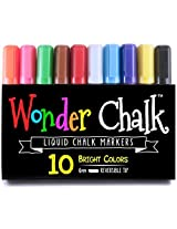 Wonder Chalk Liquid Markers-Water Based, Wet Wipe to Erase-These 6mm Chisel T...