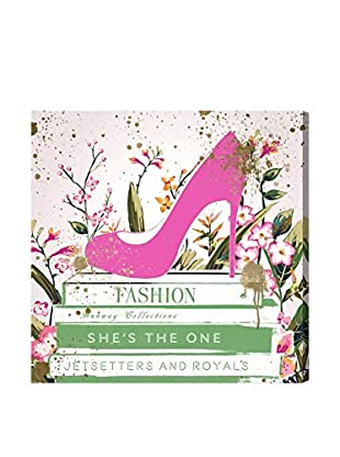 Oliver Gal Shoes & Books Spring Canvas Art