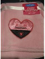 Baby Girl Soft Pink Bon Bebe Blanket