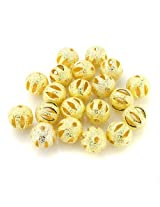 Beadnova Silver / Gold Plated Matel Beads Stardust Stripe Sparkle Hollow Round Beads 4mm 6mm 8mm 10mm Gold Plated Hollow Stardust Stripe Beads/10mm AD