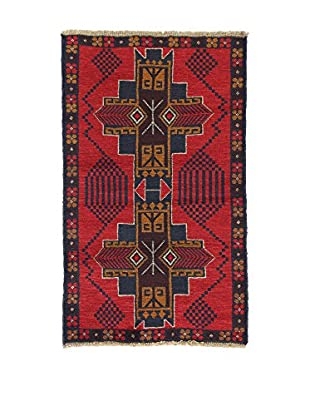 L'Eden del Tappeto Teppich Beluchistan rot/dunkelblau/braun 140t x t85 cm