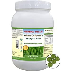 Herbal Hills Wheat-O-Power -Wheatgrass Tablet Green Food Supplement WP083