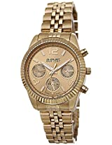 August Steiner Women's AS8103YG Swiss Quartz Multifunction Gold-tone Stainless Steel Bracelet Watch