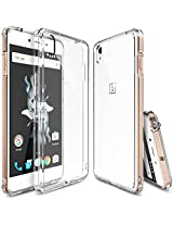 OnePlus X Case, Ringke [Fusion] Crystal Clear PC Back TPU Bumper w/ Screen Protector [Drop Protection/Shock Absorption Technology][Attached Dust Cap] For OnePlus X - Crystal View