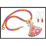[N15M_001] Crimson Ice Necklace Necklace