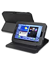 eForCity 360-degree Swivel Leather Case Compatible with Samsung Galaxy Tab2 7.0-inch P3100/ P3110/ P3113 Black