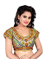 Kuvarba Fashion Multi Color Fabric Cotton Embroidered Readymade Designer Blouse