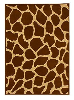 Desert Giraffe Rug, Dark Orange/Light Gold, 5' 3
