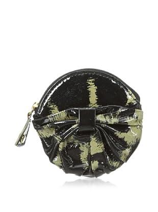 Felix Rey Women's Bow Keychain Pouch, Leopard