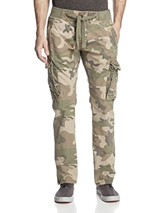 Jet Lag Men's RS-83A Marable Washed Cargo Pant (Camo Army Green)