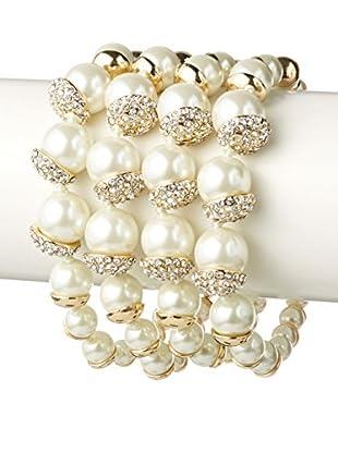 Fragments Pearl & Pave 4-Row Bracelet