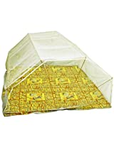 Elegant Double bed 6*6 Yellow color Mosquito Net