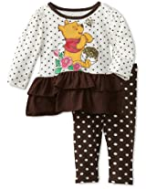 Disney Baby Girls' 2 Piece Winnie The Pooh Polka Dot Legging Set