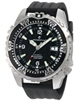 Momentum Men's 1M-DV06B8B M1 Deep 6 Black Dial Black Ribbed Rubber Watch