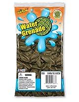 Pioneer National Latex Water Grenade Balloons, Dark Green, 100 Count