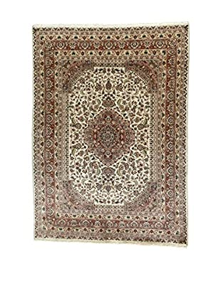 L'Eden del Tappeto Teppich Kashmirian F/Seta ecru/braun 241t x t173 cm