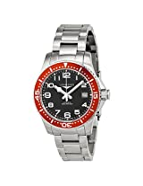 Longines Hydro Conquest Black Dial Red Bezel Stainless Steel Men'S Watch - Lng36944596