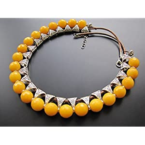 Dreamz Jewels Yellow Choker Necklace