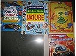 Sticker Knowledge books - 4 titles (Nature, Mega Machines, Animals, Action)