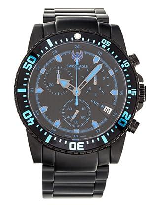 Swiss Eagle Reloj Dive Sea Ranger negro / azul