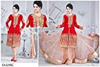 Aarti Saree Womens Chiffon Dress Material (Sx329Sc _Multi-Coloured _Large)